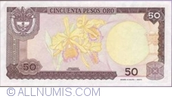 Imaginea #2 a 50 Pesos Oro 1986 (1. I.)