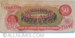 Imaginea #2 a 50 Dolari 1975 - semnături Lawson-Bouey