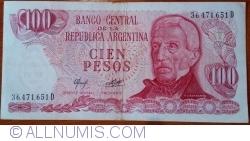 Image #1 of 100 Pesos ND (1976-1978) - signatures Alberto J. Camps/ Adolfo César Diz