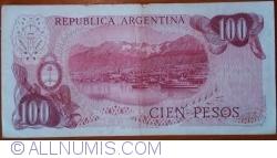 Image #2 of 100 Pesos ND (1976-1978) - signatures Alberto J. Camps/ Adolfo César Diz