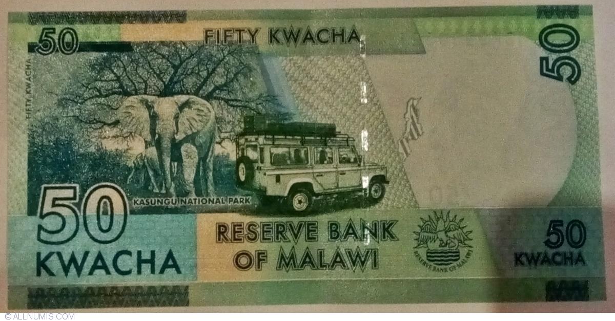 MALAWI 20 KWACHA 2019 P 63 UNC