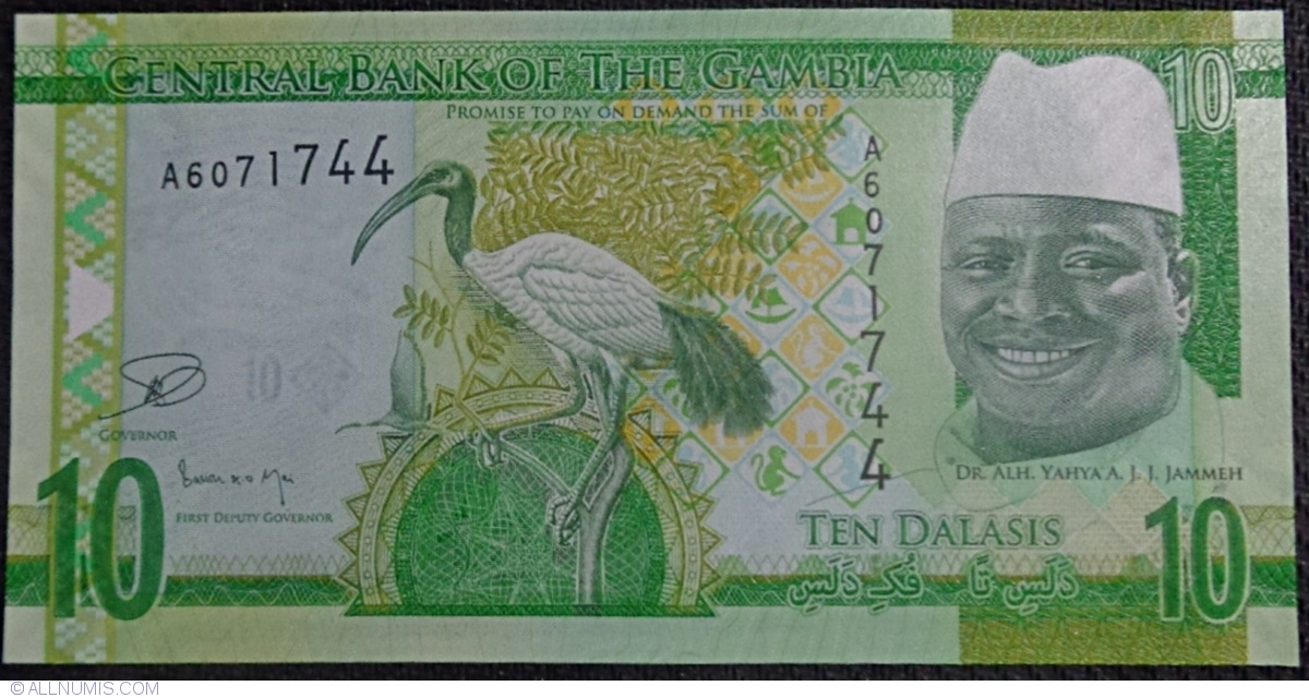 SET Gambia re-designed ND 2015 5;10;20 Dalasis P-31-32-33 UNC