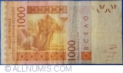 Image #2 of 1000 Francs 2003/(20)08