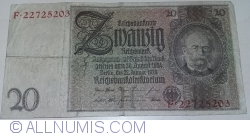 Image #1 of 20 Reichsmark 1929 (22. l.) - H