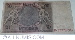 Image #2 of 20 Reichsmark 1929 (22. l.) - H
