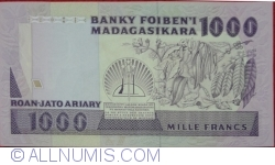 Image #2 of 1000 Francs = 200 Ariary ND (1988-1993)