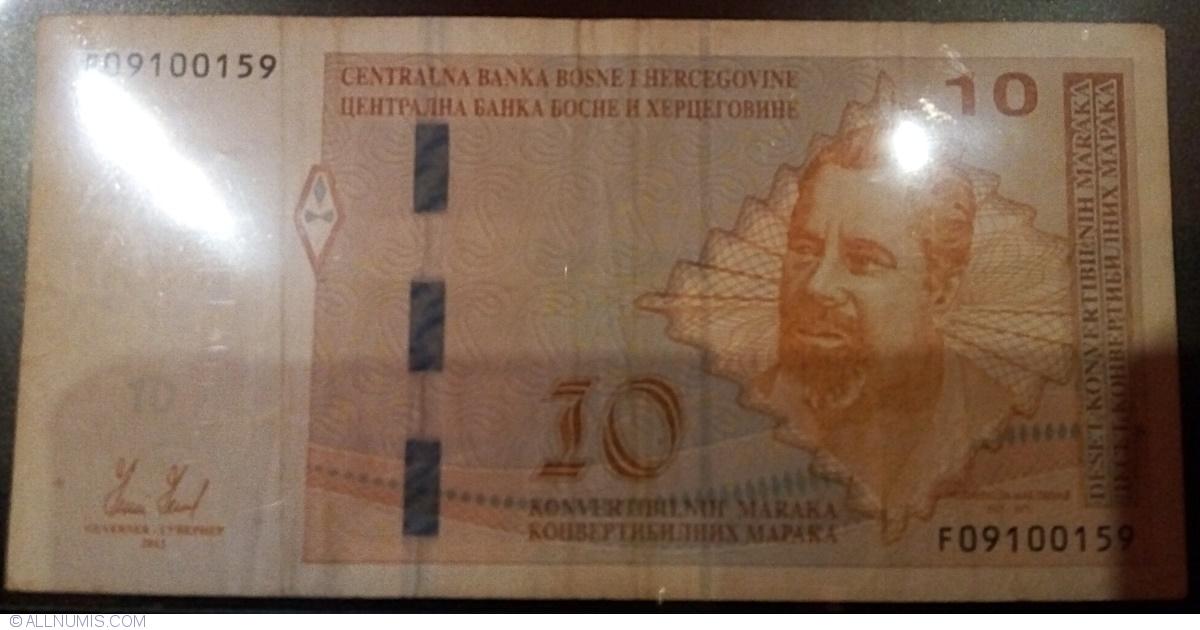 Pick 81a BOSNIA HERZEGOVINA 10 Convertible Maraka 2012 UNC