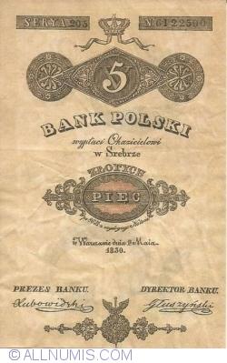 Image #1 of 5 zlotych 1830 (1. V.)