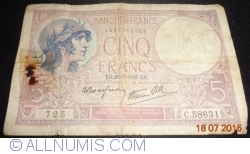 Imaginea #1 a 5 Franci 1939 (20. VII.)