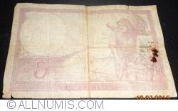 Imaginea #2 a 5 Franci 1939 (20. VII.)