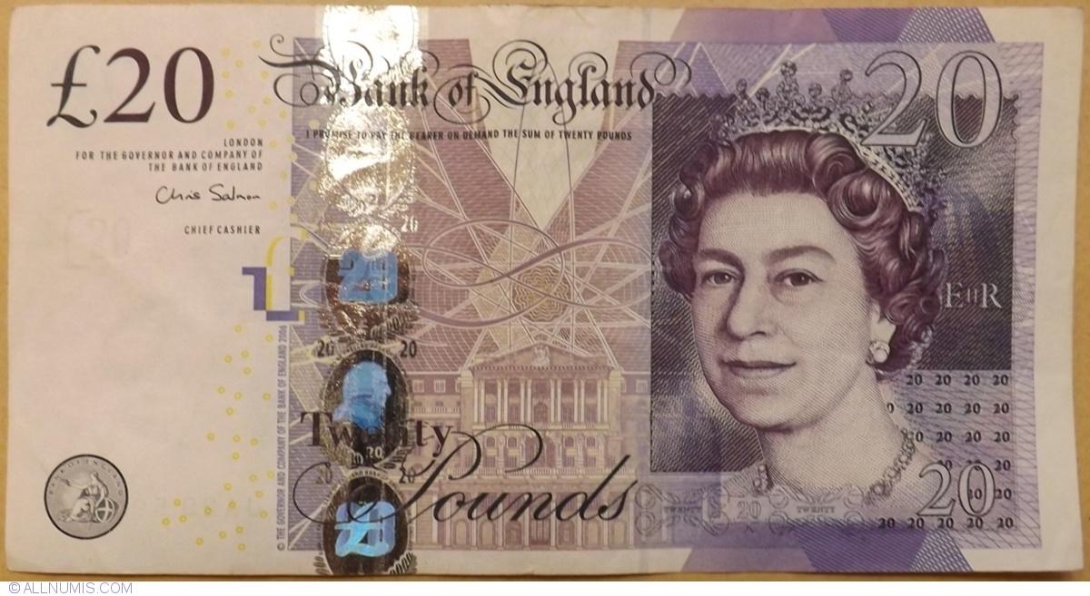 2012 QEII Great Britain 20 pounds 2006 UNC 392b P-392