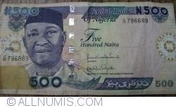 Imaginea #1 a 500 Naira 2009 - semnături (2)