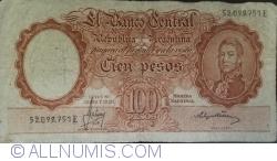 Image #1 of 100 Pesos ND (1957-1967) - signatures Alfredo D. Mastropierro / Felipe S. Tami