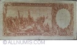 Image #2 of 100 Pesos ND (1957-1967) - signatures Alfredo D. Mastropierro / Felipe S. Tami