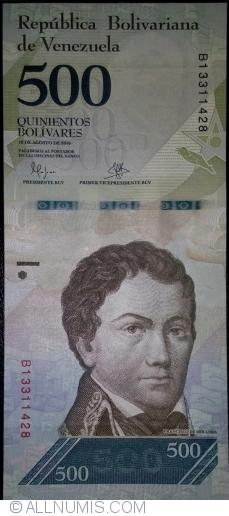 Imaginea #1 a 500 Bolivares 2016 (18. VIII.)