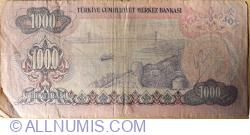 1000 Lire L.1970 (1979) - semnături İ. Hakki AYDINOĞLU, Tanju POLATKAN