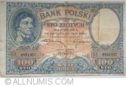 Image #1 of 100 Złotych 1919 ( 28. II.) (1924)
