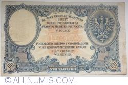 Image #2 of 100 Złotych 1919 ( 28. II.) (1924)