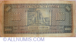Image #2 of 1000 Drachmai ND (1928) (old date 4.XI. 1926)