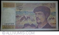 Image #1 of 20 Francs 1987