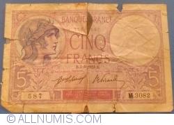 Image #1 of 5 Francs 1918 (3. VIII.)