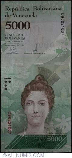Imaginea #1 a 5000 Bolivares 2017 (13. XII.)