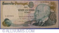 Image #1 of 20 Escudos 1978 (13. IX.) - signatures Emílio Rui da Veiga Peixoto Vilar / Joaquim Cavaqueiro Mestre (3)