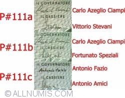 5000 Lire 1985 (4. I.) - signatures Antonio Fazio / Antonio Amici