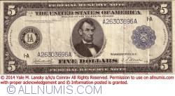 5 Dollar 1914 - A (Boston)