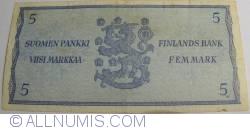 Imaginea #2 a 5 Markkaa 1963 - semnături Uusivirta/ Lukka