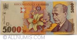 5000 Lei 1998 - Vertical watermark