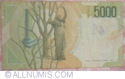 Image #2 of 5000 Lire 1985 (4. I.) - signatures Antonio Fazio / Antonio Amici