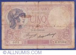 Image #1 of 5 Francs 1933 (27. VII.)