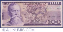 Image #1 of 100 Pesos 1982 (25. III.) - Serie VJ