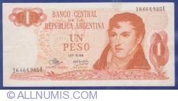 Image #1 of 1 Peso ND (1970-1973) - signatures Rodolfo A. Mancini / Alfredo Gómez Morales