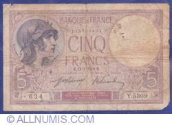 Image #1 of 5 Francs 1919 (17. I.)