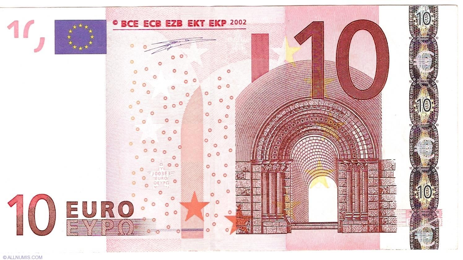 10 Euro 2002 S Italy 2002 Issue 10 Euro Signature