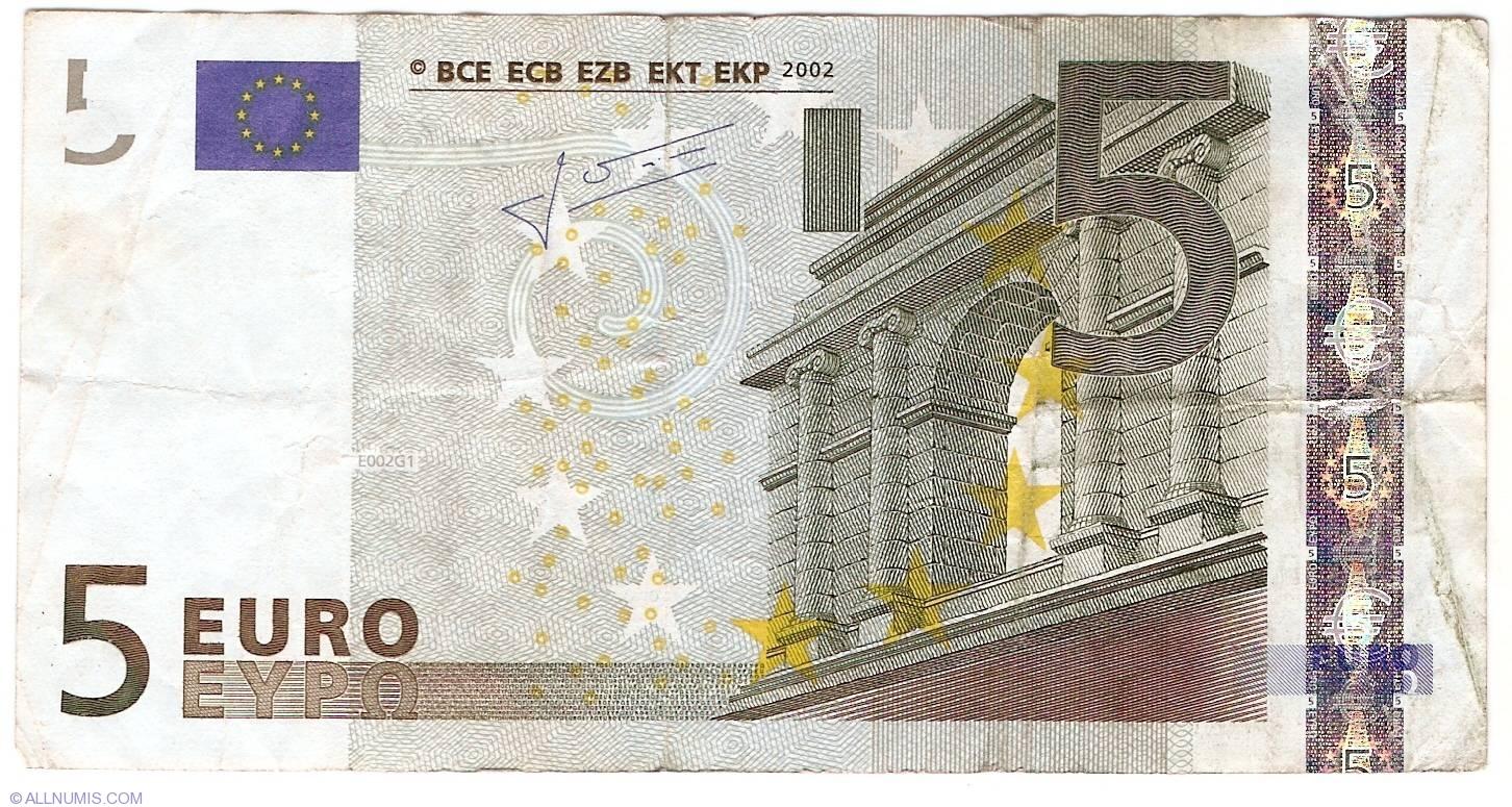 hologramm 5 euro schein