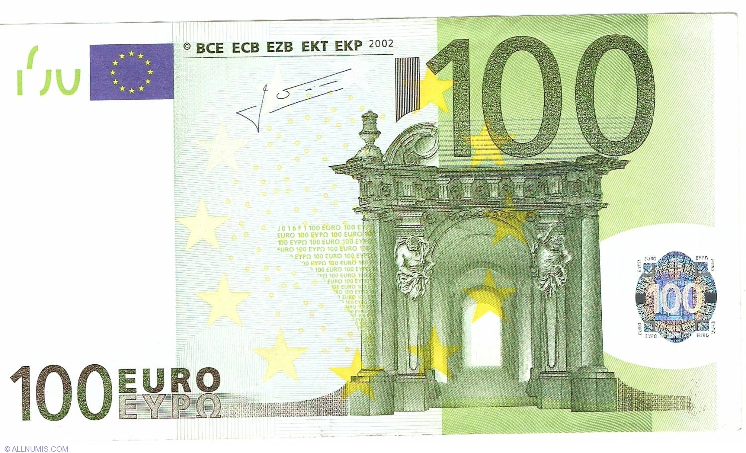 100 euro 2002 s italy 2002 issue 100 euro signature for Canape a 100 euros