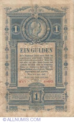 Image #2 of 1 Gulden 1882
