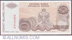 Imaginea #2 a 50 000 000 000 Dinari 1993
