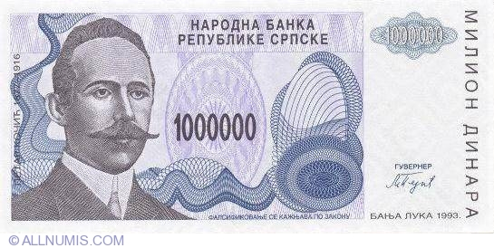 Bosnia-Herzegovina 500 Million Dinara 1993 P-155 Republic of Srpska   EF  x  5