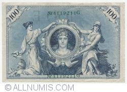Image #1 of 100 Mark 1908 (7.II.) - E (reissue 1918-1922)