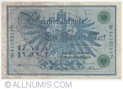 Image #2 of 100 Mark 1908 (7.II.) - E (reissue 1918-1922)