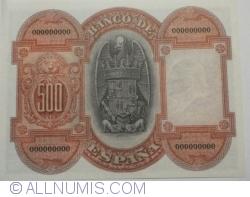 500 Pesetas 1927 (24. VII.) - Reproducere
