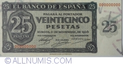 25 Pesetas 1936 (21. XI.) - Reproducere