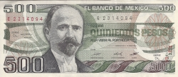 Image #1 of 500 Pesos 1983 (14. III.) - Serie DL