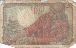 Image #1 of 20 Francs 1948 (11. X.)