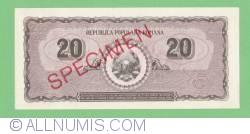 20 Lei 1950 - Specimen