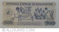 Image #2 of 500 Meticais 1986 (16. VI.)